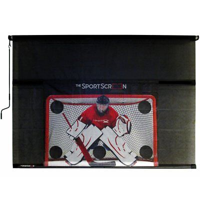 SportScreen Manual Garage Door Screen with Detachable Hockey Target - 10 Feet