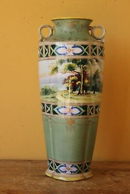 Antique Large Art Nouveau Japanese Nippon vase.
