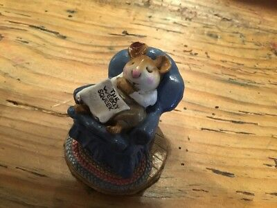 Wee Forest Folk forty Winks M-160 Mouse 1988 Annette Petersen