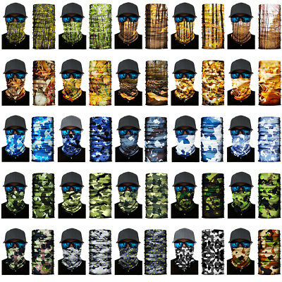 3D Jungle Camouflag Face Shield Sun Mask Neck Gaiter Balaclava Scarf Headwear UV