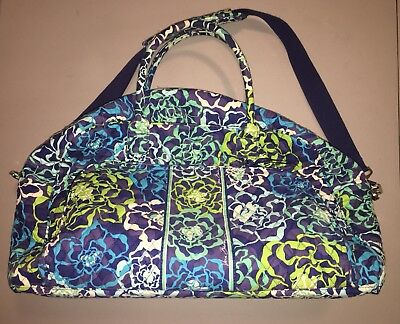 Vera Bradley Iconic Weekender Travel Bag Floral Print