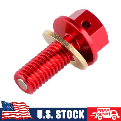 OutlawRacing Magnetic Engine Oil Plug M8x1.25x20mm