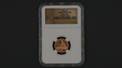 NGC Certified 2009 1C Formative Years MS 67 RD