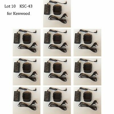 Lot 10 KSC-43 Rapid Charger Adapter for Kenwood KNB-29N KNB-30A KNB-50 Radio