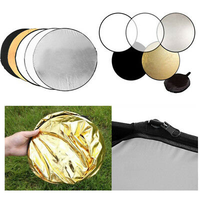 Light Mulit Collapsible disc for photography Panel Reflector diffuser 5 in1 60cm