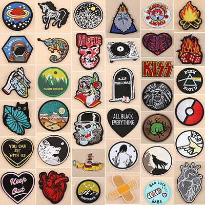 Embroidered Patches Applique Badges Dress Bag Hat Jeans  Iron On / Sew On Patch