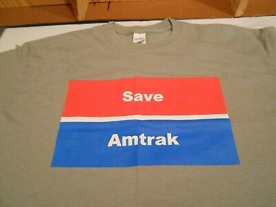 Save Amtrak Fire Anderson T Shirt! New!!  Free Shipping!!