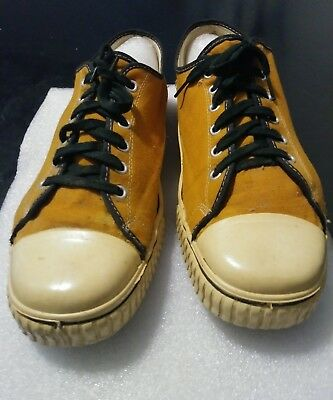 Vintage Sears Jeepers Sneakers Made In Usa Size 11. 60S-70S Rare Orange