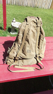 Original WWII US Army 10th Mountain Division Rucksack Pack 1942