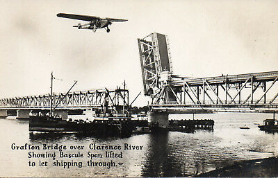 Australia Vintage New South Wales Grafton Bridge Span Lifted Clarence River