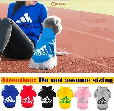 Dog Hoodie Jumper Clothing Sweater Clothes Jacket Coat Winter AU Seller