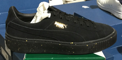 909053ea4c1 Puma Suede Platform Celebrate Women s Casual Sneakers Black 365621 01 Sz6-9  L