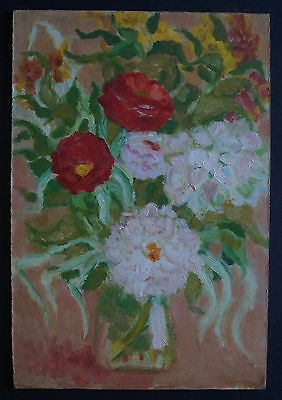 CHARLES KIFFER (1902-1992) Gouache - BOUQUET OF FLOWERS - Stamp