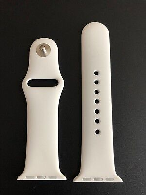 38mm NEW White Apple Watch Genuine Sport Band Small/Med S/M Authentic Original