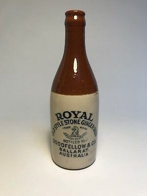 Great Condition Pictorial Crown Seal Ginger Beer Goodfellow & Co Ballarat