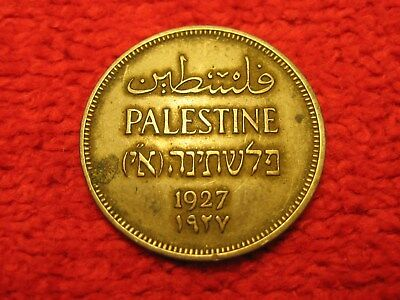 1927 Palestine 1 Mil Small Denomination Middle East Copper Coin Scarce