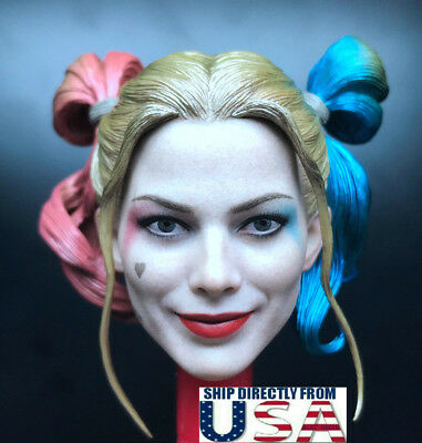 """1/6 Harley Quinn Head Sculpt 2.0 Suicide Squad For 12"""" PHICEN HotToys Figure USA"""