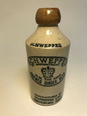 Near Mint Pictorial Blob Top Ginger Beer Schweppes Abbotsford Melbourne