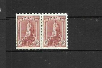 Australia Pre-Decimal 1949, 5/- 'Robes' pair Mint Never Hinged,  well centred