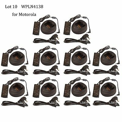 Lot 10 Tri-Chemistry Rapid Charger WPLN4138 for Motorola XPR6000 XPR6100 Radio