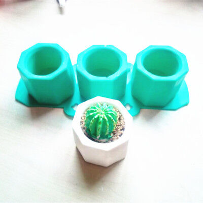 3 Mechanism Handmade Geometric Silicone Flower Pot Mold Ceramic Molding Craft