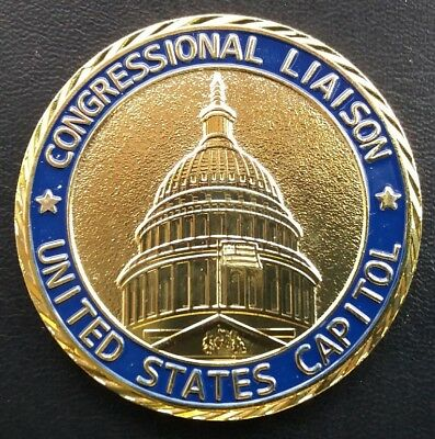 CONGRESSIONAL LIAISON US CAPITAL 50mm Challenge Coin FREE COIN STAND