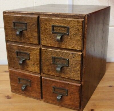Vintage Apothecary Industrial Salvage Cabinet/Bank of 6 Drawers Brass Work  -254