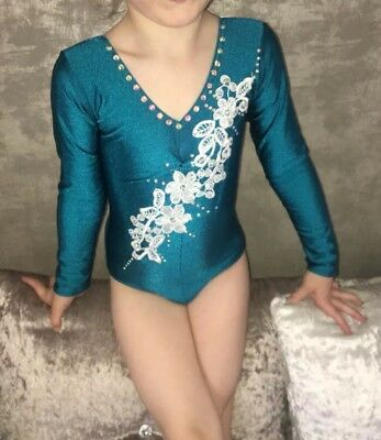 Leotard Baton Twirling Costume Dance Costume Age 4-5 5-6 Size 00