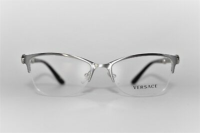 5096170e906 New Versace Mod 1228 1266 Silver gold Authentic Eyeglasses Frames Rx 53Mm