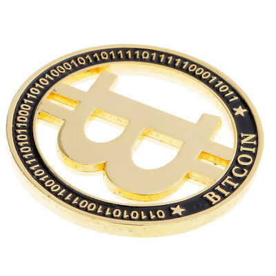 MagiDeal Gold Plated Bitcoins Bit Coin BTC Commemorative Coin Model Toy Gift