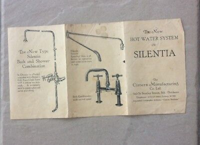 Vintage Hot Water System  SILENTIA instruction