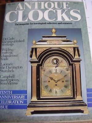 Antique Clocks Mag July 1988 English Bracket Roger Lascelles Dartington Stumbles