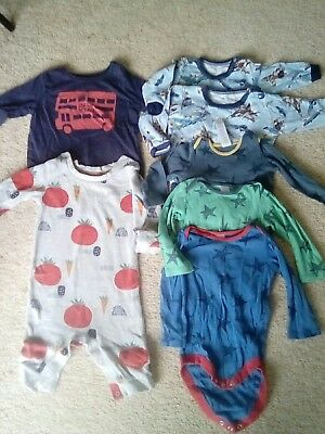boy bundle 6-9 m&s and boden long sleeve tops and romper