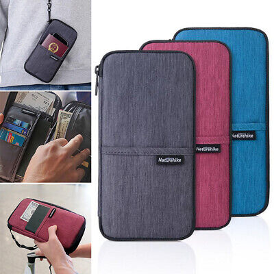 Multi-function Passport Holder Case Travel Wallet Cover Case Card Pocket Zip Bag