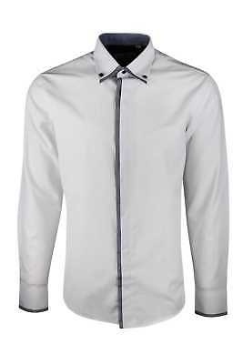 MENS TEXTURED BUTTON DOWNCOLLAR SMARTCASUAL SHIRT. Was £30NOW £16.99/£17.99(390)
