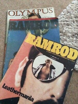 GAY HAIRY BEAR LEATHER RAMROD MAGAZINES. Gay magazines. VINTAGE !