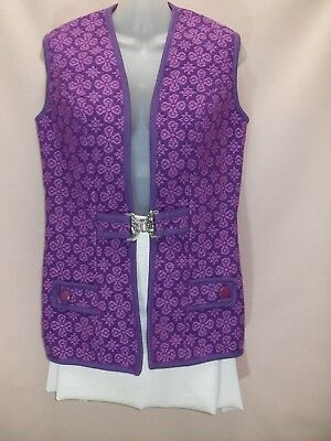 1970's Vintage Hip Length Vest with Feature Buckle.