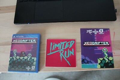 Xeodrifter. Limited Run #9. Postkarte und Sticker. Eingeschweißt. Mint Condition