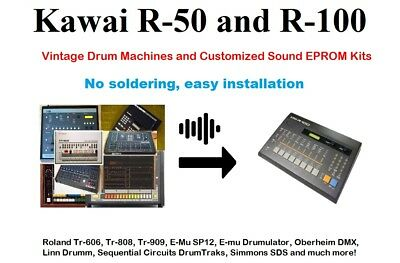 Kawai R50 R100: Vintage Drum Machines and Customized Sound EPROM Kits