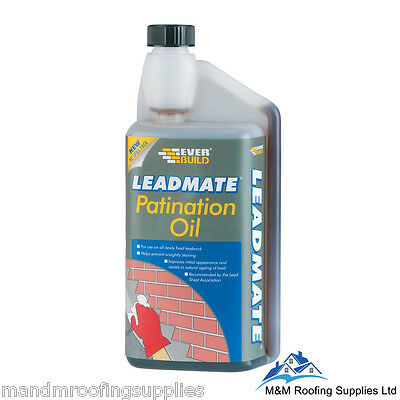 Everbuild Lead Mate Patination Oil  - 1 Litre / Protective Lead Coating