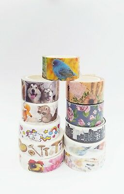 Assorted Masking Washi Tape Scrapbook Art Journal Planner Craft Illustrated