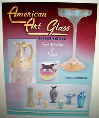 VINTAGE ART GLASS PRICE GUIDE $$$ ID COLLECTORS BOOK Hardback Picture's