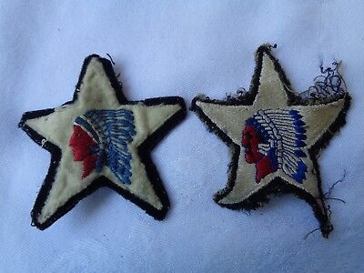 Vintage Lot Of 2 Ww 2 Us Army 2Nd Infantry Division Patch Indian Head Patches