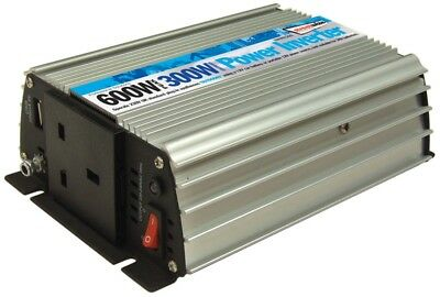 300W Power Inverter 600W Peak 12v Lighter Socket Powered- 230v UK with USB port