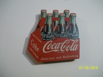 Coca-Cola Wooden Magnet - Six Pack