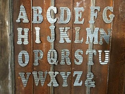 "10"" E - Recycled Antique Roofing Tin Letter"