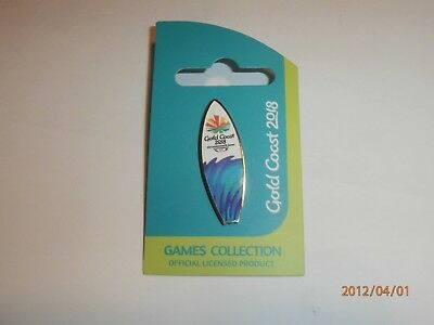 Gold Coast Surfboard Lapel Pin Badge 2018 Commonwealth Games Brand New-Free Post