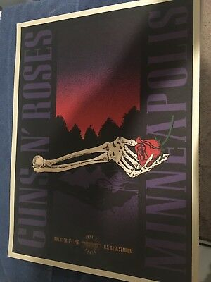 GUNS N ROSES Minneapolis Lithograph Poster NOT IN THE LIFETIME 7/30/2018 305/350