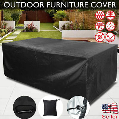 Waterproof IP63 Patio Furniture Cover Outdoor Table Chairs Bench Sofa US seller