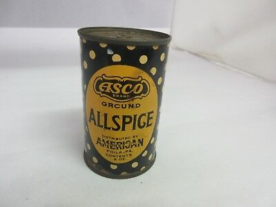 Vintage Asco Allspice  Spice Old  Tin Advertising Exc Condition M-86
